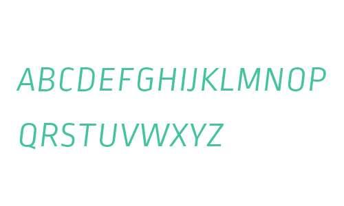 Ropa Sans SC W06 Light Italic