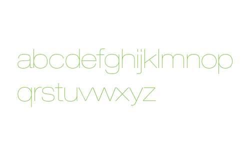 Helvetica Neue LT W0223UltLtEx