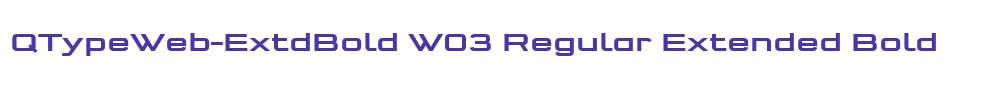 QTypeWeb-ExtdBold W03 Regular