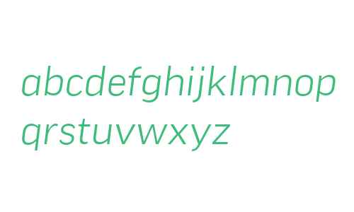 Good Offc W02 Wide Light Italic