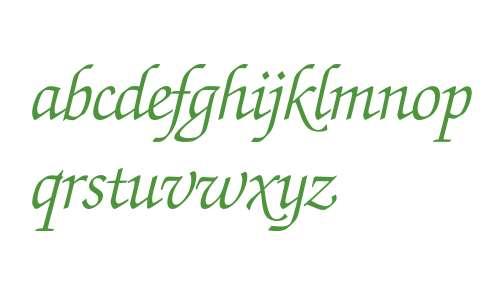 Zapf Chancery* Light Italic