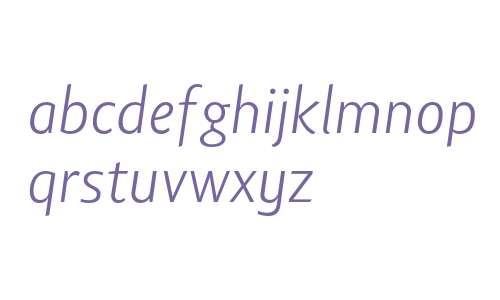 Lisboa Sans Ligatures Light Italic