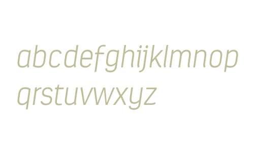 Estandar W03 ExtraLight Italic