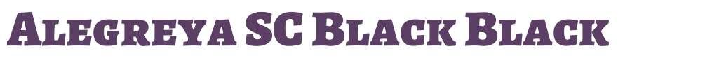 Alegreya SC Black