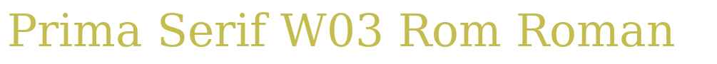 Prima Serif W03 Rom