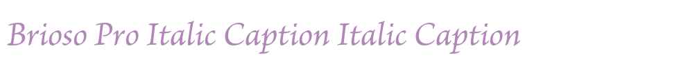 Brioso Pro Italic Caption