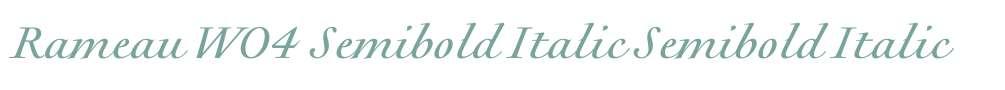 Rameau W04 Semibold Italic