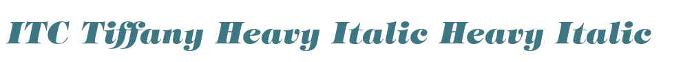 ITC Tiffany Heavy Italic