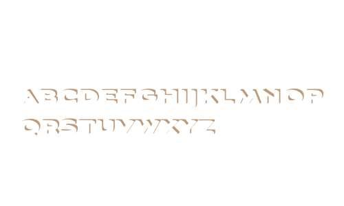 Aviano Sans Layers W01 3DShadow