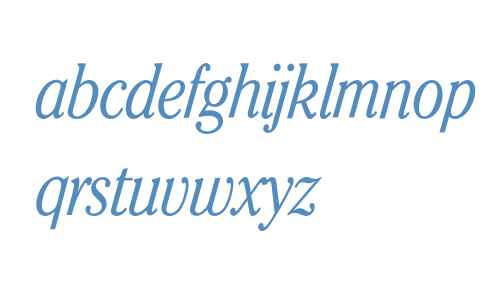 Cheltenham* ITC Condensed Light Italic