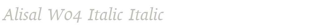 Alisal W04 Italic