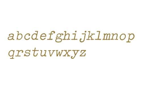 Typewriter-Oblique