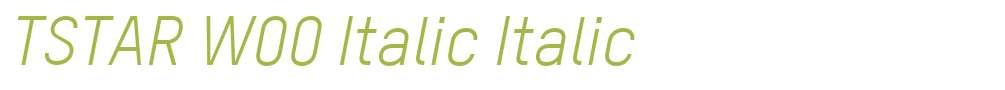 TSTAR W00 Italic