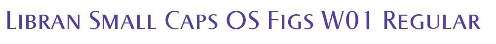 Libran Small Caps OS Figs W01