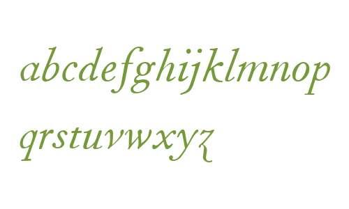 Fournier MT W04 Italic