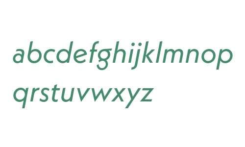 Neue Kabel W01 Book Italic