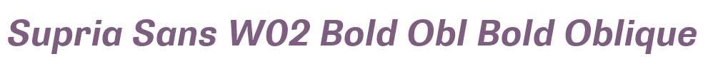 Supria Sans W02 Bold Obl