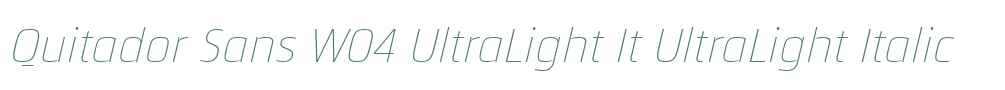 Quitador Sans W04 UltraLight It
