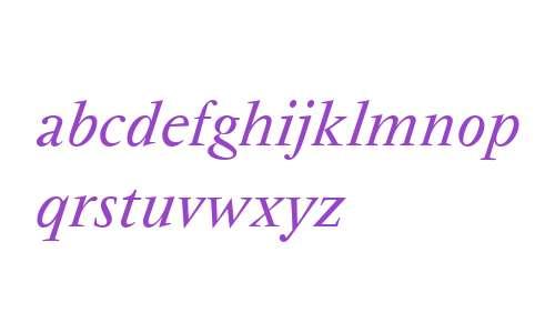 Vendome W01 Italic