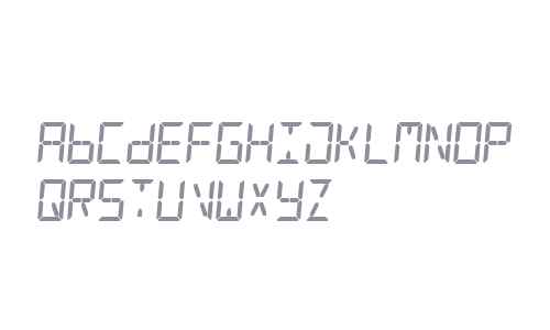 Digital Counter 7 Italic V3
