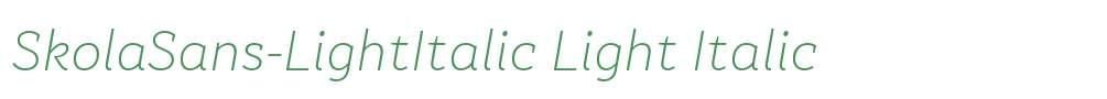 SkolaSans-LightItalic