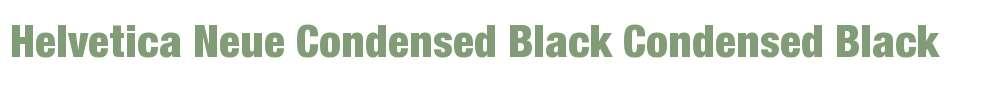 Helvetica Neue Condensed Black