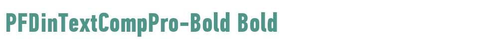 PFDinTextCompPro-Bold