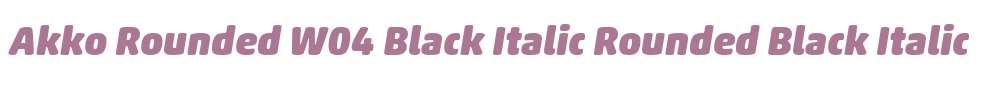 Akko Rounded W04 Black Italic