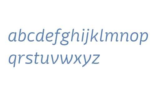 Mangerica W00 Light Italic