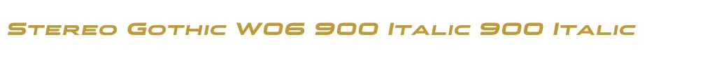 Stereo Gothic W06 900 Italic