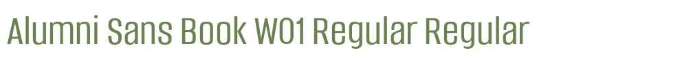 Alumni Sans Book W01 Regular