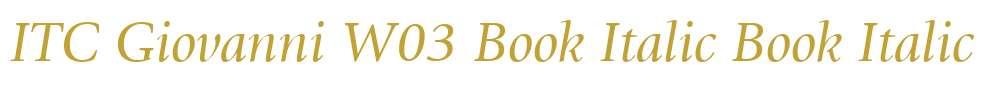 ITC Giovanni W03 Book Italic