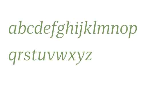 Mediator Serif Narrow Web Light Italic