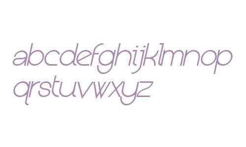Kerater W00 ExtraLight Italic