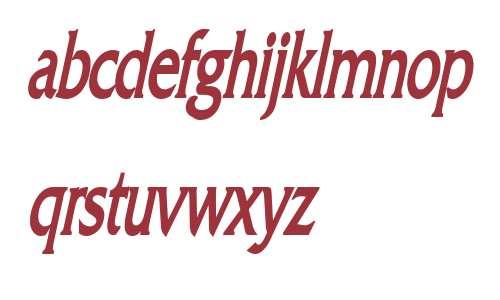 Franco Thin Bold Italic