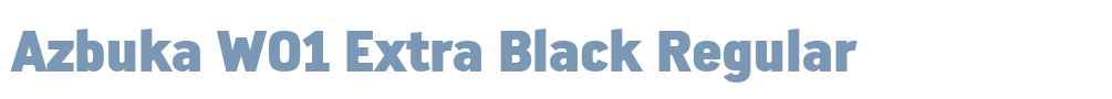 Azbuka W01 Extra Black