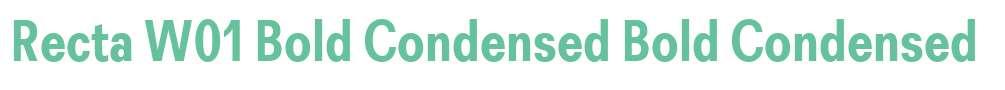 Recta W01 Bold Condensed