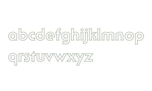 ITC Serif Gothic Bold Outline