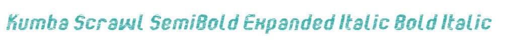 Kumba Scrawl SemiBold Expanded Italic