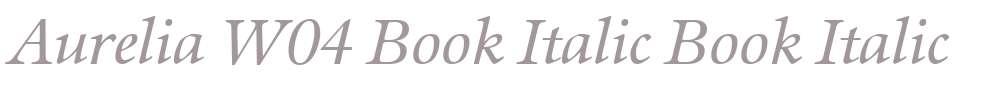 Aurelia W04 Book Italic