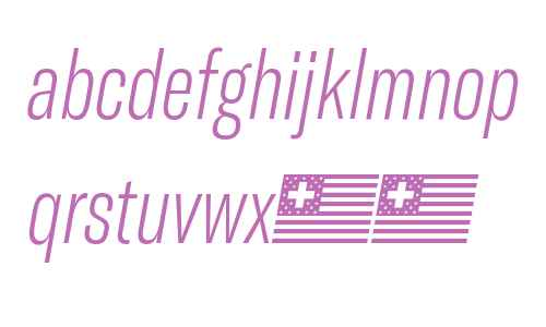 GT America Compressed Thin Italic