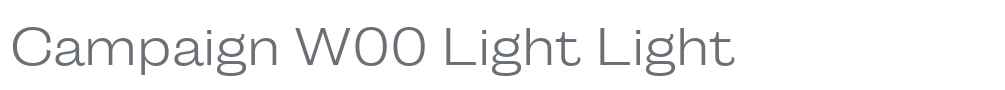 Campaign W00 Light