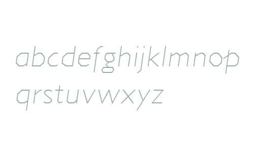 Jillican W00 ExtraLight Italic