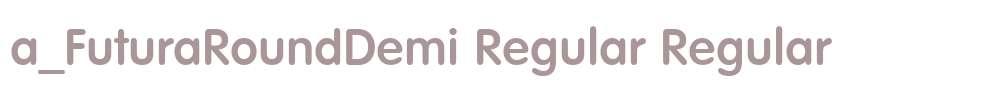 a_FuturaRoundDemi Regular