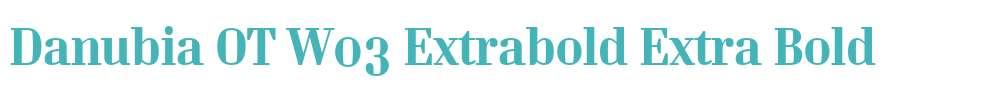 Danubia OT W03 Extrabold