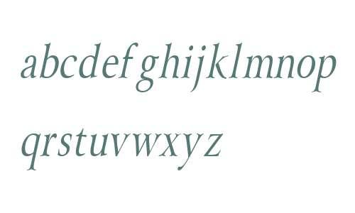 Array Condensed Italic