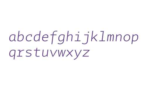Tabac Mono Light Italic