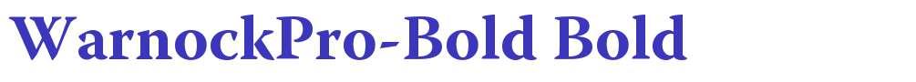 WarnockPro-Bold