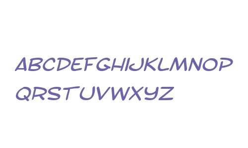 SF Toontime Extended Italic V2