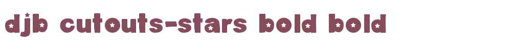 DJB Cutouts-Stars Bold